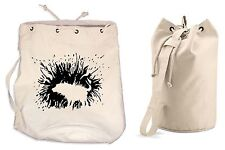 BANKSY SHAKING DOG DUFFLE BAG College Rucksack Gym Beach Backpack Sports