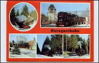 Eisenbahn Motiv-AK DDR Harzquerbahn Bahnhof Sorge, Schierke, Tiefenbachmühle uvm