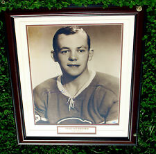 Yvan Cournoyer Canadiens PRO Framed Signed Photo 24x28 Stacks of Plaques COA
