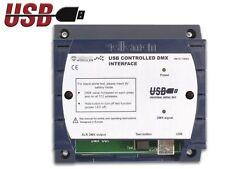 CONTROLEUR REGIE DE LUMIERE DMX INTERFACE USB PILOTAGE PC ORDINATEUR 512 CANAUX