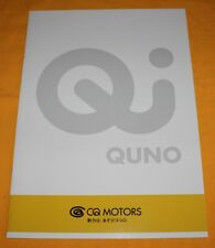 CQ-Motors Quno 2003 Japan Prospekt Japanese Brochure Catalogue Elektro Electric