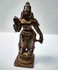 Ancienne Déesse en bronze Lakshmi Mahalakshmi Inde du Nord hindouisme 18e