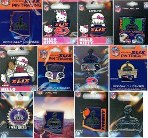 Super Bowl XLIX Pin Choice 12 Pins 49 Patriots Seahawks 2015 Arizona New England