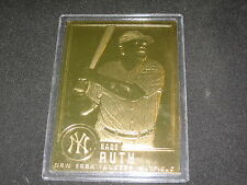 BABE RUTH #30 YANKEES LEGEND GENUINE LIMITED EDITION GOLD MLB BASEBALL CARD RARE