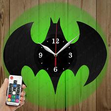 LED Vinyl Clock Batman LED Wall Art Decor Clock Original Gift 3786