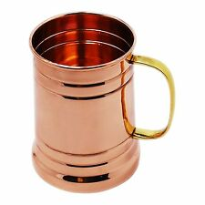 Copper Large Tanker Mug with Brass Handle Cups Capacity 20 Ounce