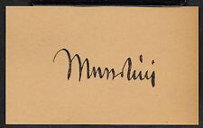 Benito Mussolini Autograph Reprint On Genuine Original Period 1930s 3X5 Card