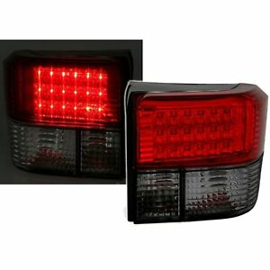2 Rear Lights LED VW T4 Transporter 09/1990 A 08/2003 Smoke Red Crystal
