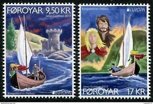 Faroe Islands 2017 Europa, Castles, Boats, UNM / MNH