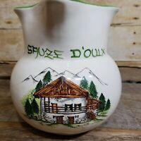 Italian Ceramic Pitcher Dipinto a mano Sauze D'oulx Pottery Lazzarotto