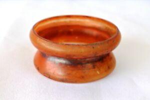 "Vintage Glassware Czechoslovakia Cigarettes Ashtray Or Short Flower Vase Pot ""F"