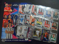 TOPPS UEFA CHAMPIONS LEAGUE 2020/21 COMPLETE 586 STICKER SET & 1 GOLD LTD UK SET