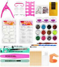 Acrylic Nail Art Kit Manicure Set 12 Colors Glitter Powder Decoration Pen Brush