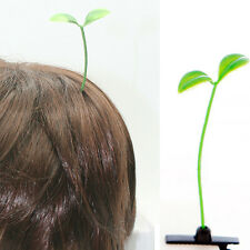 2PCS Unisex Funny Green Bean Sprout Plant Antenna Hairpin Hair Accessories NEW