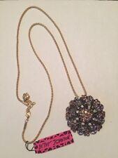 Betsey Johnson Necklace Purple Flower Pendant
