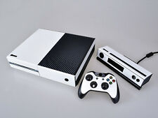 White Carbon Fiber Cover Skin Sticker for Xbox One & Kinect & 2 controller skins