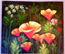 Hand Painted Oil Painting Art on Canvas, Floral Garden With Nice Flowers