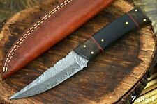 Custom Damascus Steel Hunting Knife Handmade,Walnut & G-10 Micarta Handle Z485-F