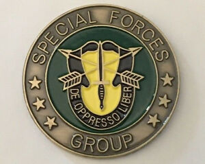 UNITED STATES SPECIAL FORCES GROUP CHALLENGE COIN .    H030808