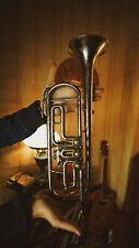 Vintage Original USSR Soviet Brass Musical Wind Instrument Trumplet