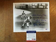 Don Larsen Last Pitch Of Perfect Game Inscribed Autographed 8x10 Photo COA JSA