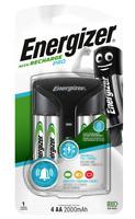Energizer Pro AA / AAA Charger UK + 4 x AA 2000mAh NiMH Rechargeable Batteries
