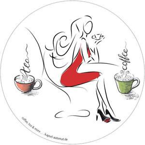Aufkleber Sticker für Verkaufsautomat für Kaffeekapseln Kaffee Kapselautomat