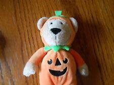 CARTER BABY BEANBAG HALLOWEEN COSTUME PUMPKIN TEDDY BEAR CRIB PLUSH - EUC