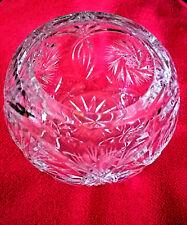 Vintage Crystal - Cut Star Etched Pinwheel Rose Bowl Vase