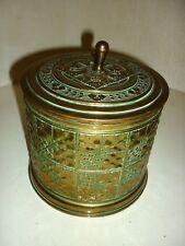 Très Rare Art Deco Erhard & Sohne pot à tabac  Brass Box Victorian Tobbaco Jar