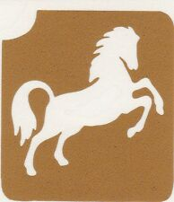 GT59 Body Art Temporary Glitter Tattoo Stencil Horse