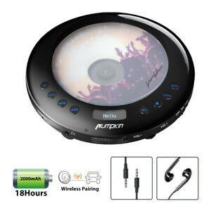 Portable CDs MP3 Player For Car with FM Transmitter Anti-skip Earphone USB AUX