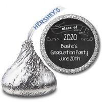 Chalk 2020 Graduation  Personalized Hershey Kiss Graduation Stickers 108 labels