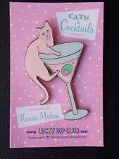Cats & Cocktails Brooch. Lucky Dip Club. Karen Mabon. NEW