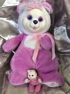 Hasbro Baby Cub Surprise Pink Mother With 1 Cub 1992 Vintage Plush Bear
