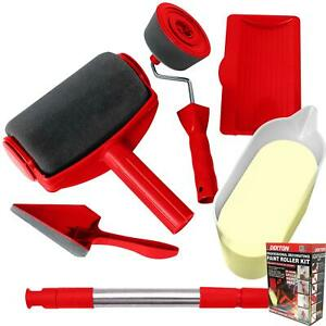 Dekton 6pc Paint Roller Runner Brush Handle Tool Decorating Kit DIY Set