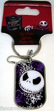 Nightmare Before Christmas Jack Skellington Enamel & Metal Dog Tag Keychain
