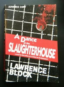 A Dance at the Slaughterhouse by Lawrence Block ARC Advance Copy Matthew Scudder
