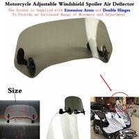 1x Smoke Motorcycle Motorbike Adjustable Windscreen Windshield Air Deflector New