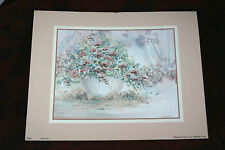 Vintage Barbara Krupp Flowers Litho USA Print Ready For Framing
