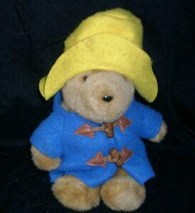 "10"" VINTAGE 1988 EDEN BROWN PADDINGTON TEDDY BEAR STUFFED ANIMAL PLUSH JACKET"
