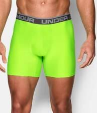"$47 Under Armour Men Underwear Green Ua Micro Boxerjock 6"" In Boxer Brief Size S"