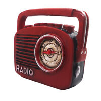 1/12 Scale Miniature Red Color Vintage Radio Player Dolls House Ornament