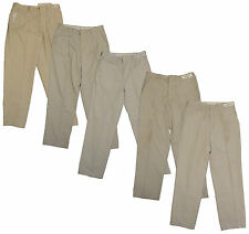 5 Used Tan Khaki Beige Uniform Work Pants Cintas, Dickies, Redkap ect