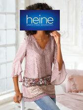 Heine Long Shirt Tunika Bluse Gr 497 NEU 36 kurzarm