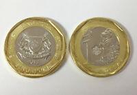 SINGAPORE 1 DOLLAR 2013 THE MERLION LION BI-METALLIC COIN UNC