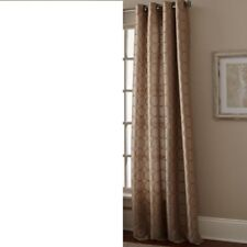 """NIP MANHATTAN TAUPE GROMMET PANEL 108"""" EMBROIDERED CIRCLE PATTERN, LINED!!"""