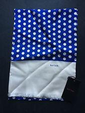 Paul Smith Femmes 100% soie écharpe - Bleu roi pois