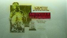 AMITYVILLE 2  - MAGIC LANTERN PROJECTION GLASS SLIDE CINEMA MOVIE ADVERTISING