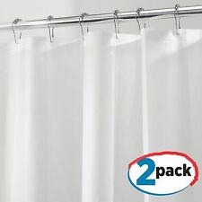Shower Curtain Liner in White Two Pcs Vinyl Extra Long 72 x8 4 Mild Mold Resist